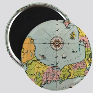 Vintage Map of Cape Cod Magnet