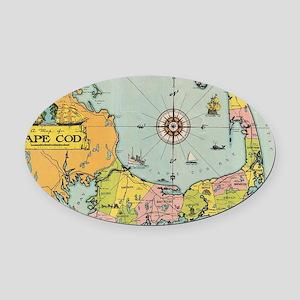Vintage Map of Cape Cod Oval Car Magnet