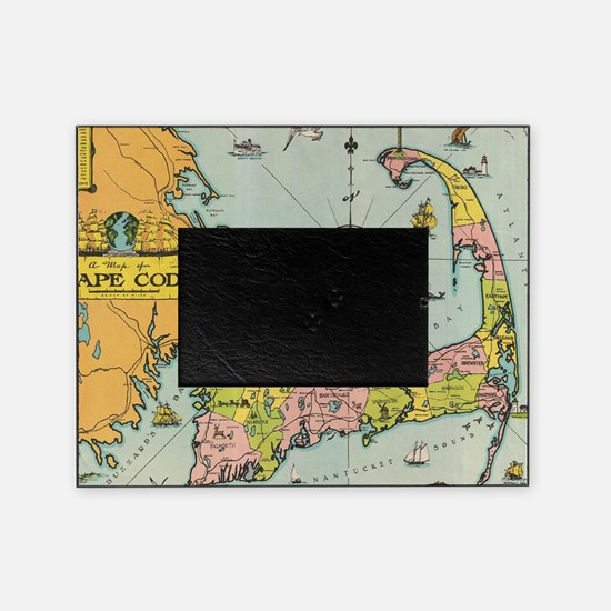 Vintage Map of Cape Cod Picture Frame