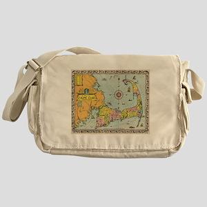 Vintage Map of Cape Cod Messenger Bag