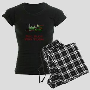 Still Plays With Trains Women's Dark Pajamas