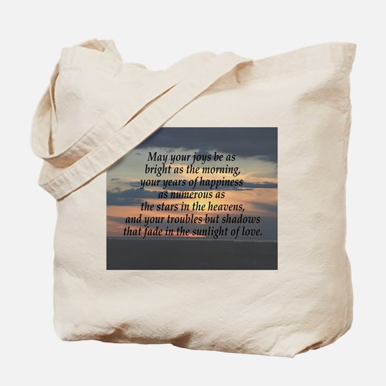 Years of Happiness Blessing Tote Bag
