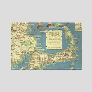 Vintage Cape Cod Map (1940) Rectangle Magnet