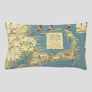 Vintage Cape Cod Map (1940) Pillow Case