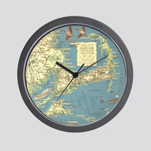 Vintage Cape Cod Map (1940) Wall Clock
