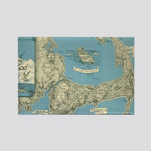 Vintage Map of Cape Cod (1945) Rectangle Magnet