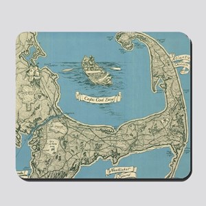 Vintage Map of Cape Cod (1945) Mousepad