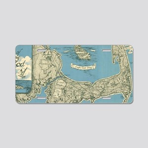 Vintage Map of Cape Cod (19 Aluminum License Plate