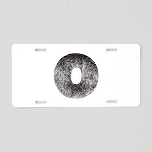 O Wolf Aluminum License Plate