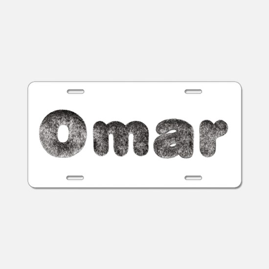 Omar Wolf Aluminum License Plate