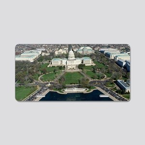 Capitol Hill Aerial Photogr Aluminum License Plate