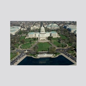 Capitol Hill Aerial Photograph 2 Rectangle Magnet