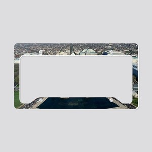 Capitol Hill Aerial Photograp License Plate Holder