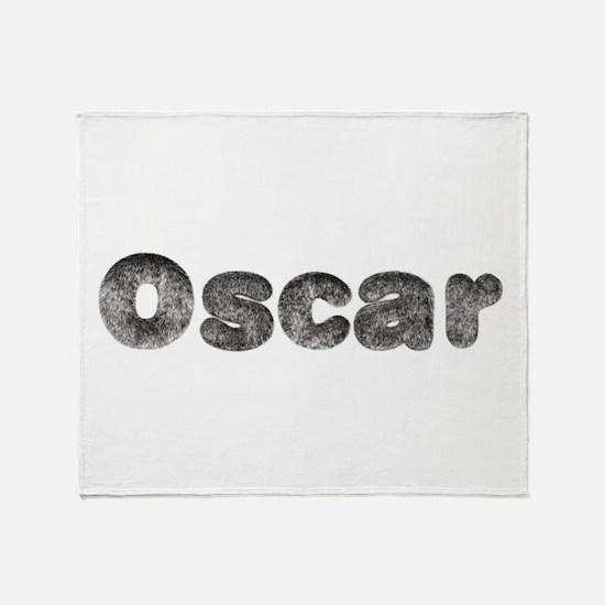 Oscar Wolf Throw Blanket