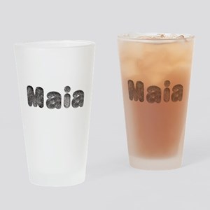 Maia Wolf Drinking Glass