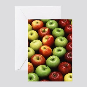 Apple cider greeting cards cafepress various types of apples greeting card m4hsunfo