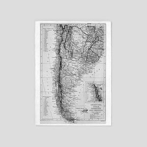 Vintage Map of Argentina (1911) 5'x7'Area Rug