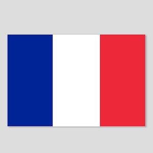 France Flag Postcards (Package of 8)