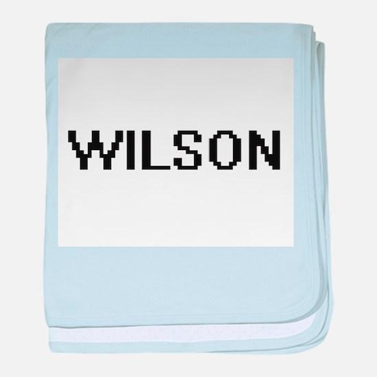 Wilson digital retro design baby blanket
