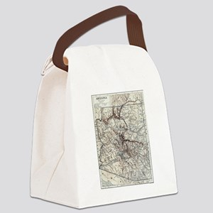 Vintage Map of Arizona (1911) Canvas Lunch Bag