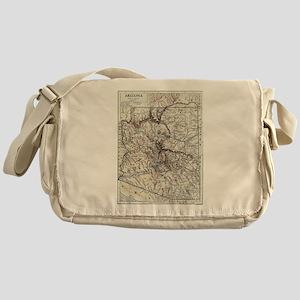 Vintage Map of Arizona (1911) Messenger Bag
