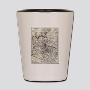 Vintage Map of Arizona (1911) Shot Glass