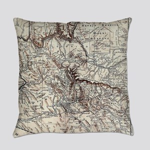 Vintage Map of Arizona (1911) Everyday Pillow