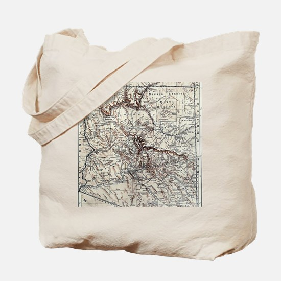 Vintage Map of Arizona (1911) Tote Bag
