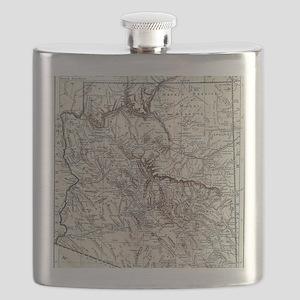 Vintage Map of Arizona (1911) Flask