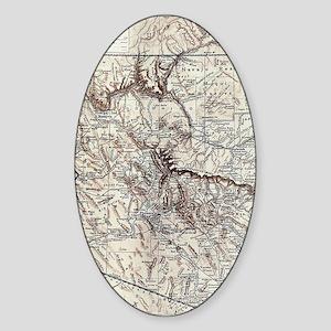 Vintage Map of Arizona (1911) Sticker (Oval)