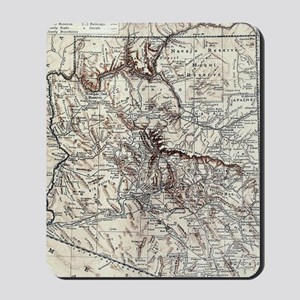 Vintage Map of Arizona (1911) Mousepad