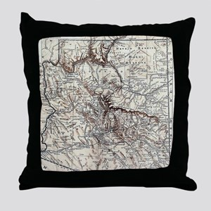 Vintage Map of Arizona (1911) Throw Pillow