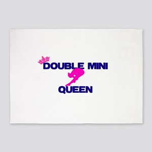 Double Mini Queen 5'x7'Area Rug