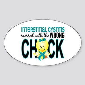 Interstitial Cystitis MessedWithWro Sticker (Oval)