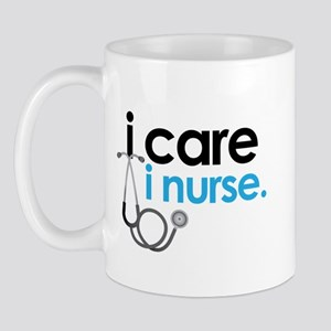 i care i nurse blue Mug
