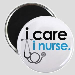i care i nurse blue Magnet