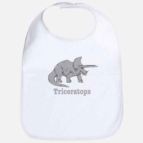 Triceratops Dinosaur Bib