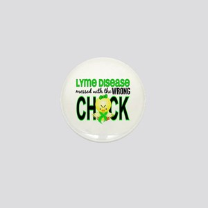 Lyme Disease MessedWithWrongChick1 Mini Button