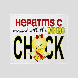 Hepatitis C MessedWithWrongChick1 Throw Blanket
