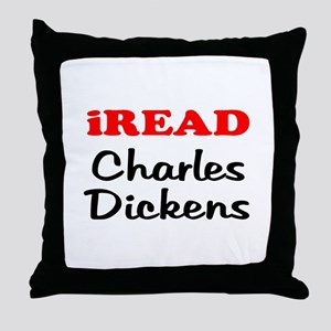 iREAD Charles Dickens Throw Pillow