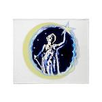 Texas Moon Goddess of Liberty Throw Blanket
