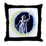 Texas Moon Goddess of Liberty Throw Pillow