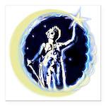 Texas Moon Goddess of Liberty Square Car Magnet 3