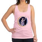 Texas Moon Goddess of Liberty Racerback Tank Top