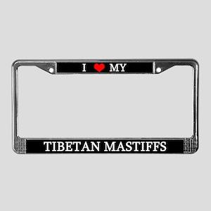 Love Tibetan Mastiffs License Plate Frame