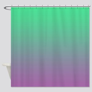 Aqua Green And Violet Shower Curtain
