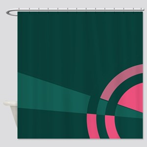 Green and Pink Majestic Shower Curtain