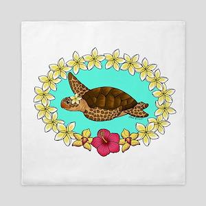 Turtle Lei Queen Duvet