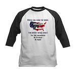 2nd Amendment Kids Baseball Jersey