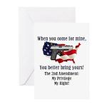 2nd Amendment Greeting Cards (Pk of 20)